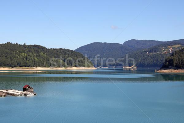 Zaovine lake and hills landscape Stock photo © goce