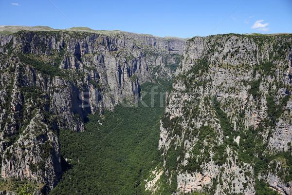 Vikos gorge landscape Zagoria Greece summer season Stock photo © goce