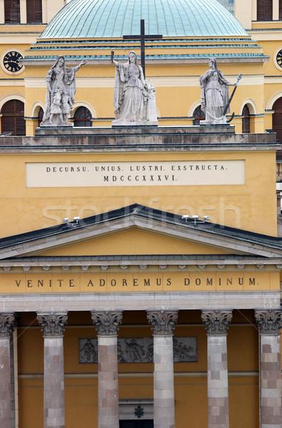 Kathedraal basiliek detail gebouw kerk Europa Stockfoto © goce