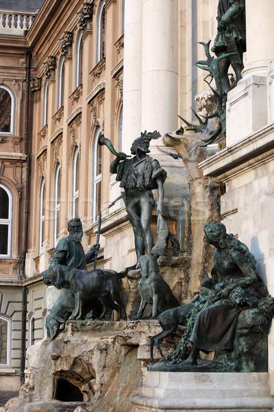 Buda castle Matthias fountain Hungary Stock photo © goce