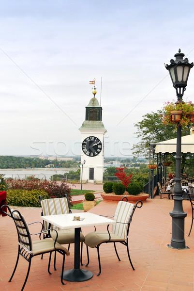 Torre relógio Sérvia cidade velha cidade Foto stock © goce