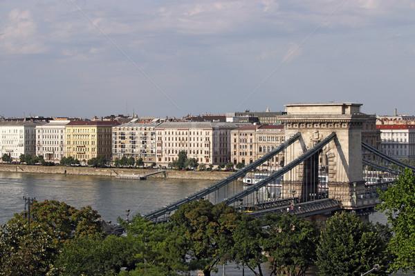 Chain bridge Budapest landmark Hungary Stock photo © goce