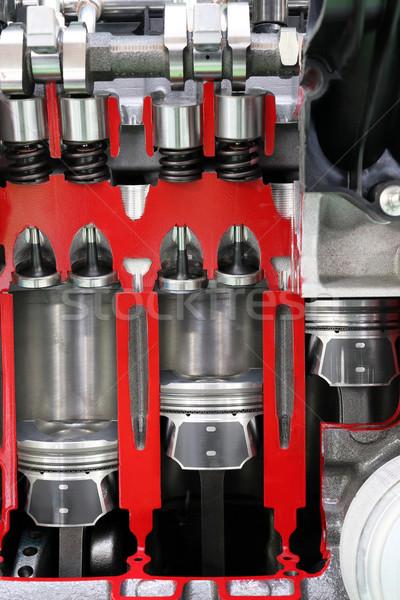 автомобилей двигатель подробность власти машина стали Сток-фото © goce