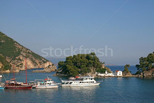 Greco ortodossa chiesa isola acqua mare Foto d'archivio © goce