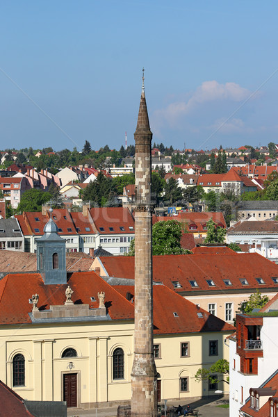 famous minaret landmark Eger cityscape Stock photo © goce
