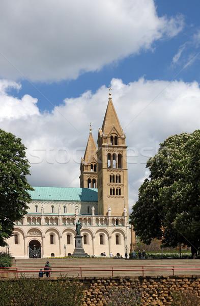 собора Венгрия дерево здании город крест Сток-фото © goce