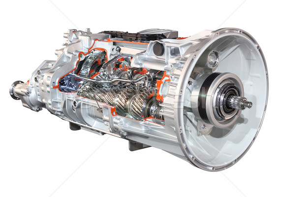 heavy truck automatic transmission front view isolated Stock photo © goce
