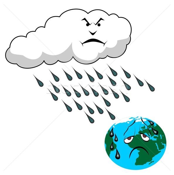 Zuur regen wolk planeet milieu gat Stockfoto © goce