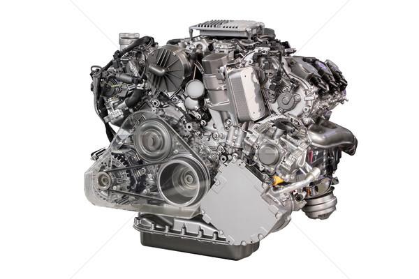 パワフル 車 エンジン 孤立した 白 技術 ストックフォト © goce
