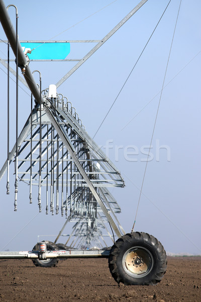 center pivot sprinkler system on field Stock photo © goce