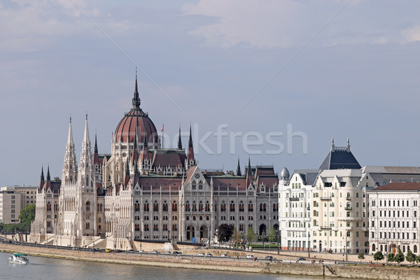 Hungarian Parliament on Danube river Budapest Stock photo © goce