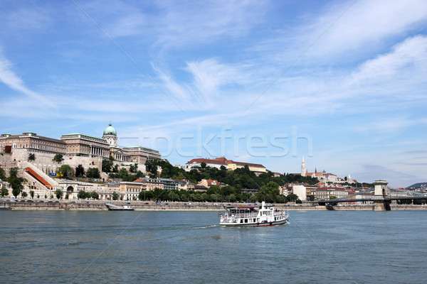 Royal castle Danube riverside Budapest Hungary Stock photo © goce