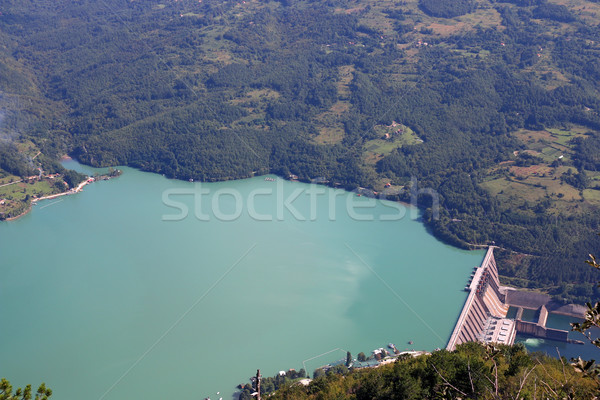 hydroelectric plant Perucac on Drina river Serbia Stock photo © goce