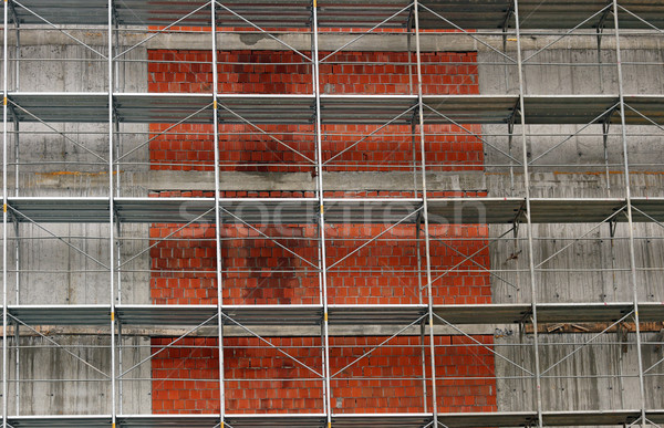 new building construction site with scaffolding platforms Stock photo © goce