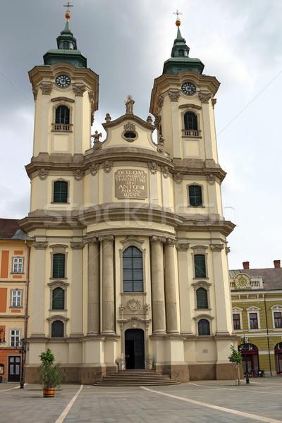 The Minorite church in Eger Hungary Europe Stock photo © goce