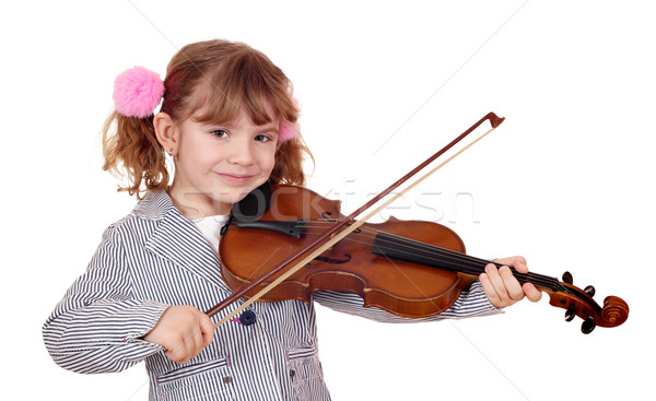 little girl violinist Stock photo © goce