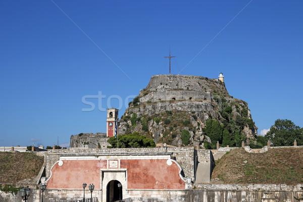 старые крепость города ориентир небе город Сток-фото © goce
