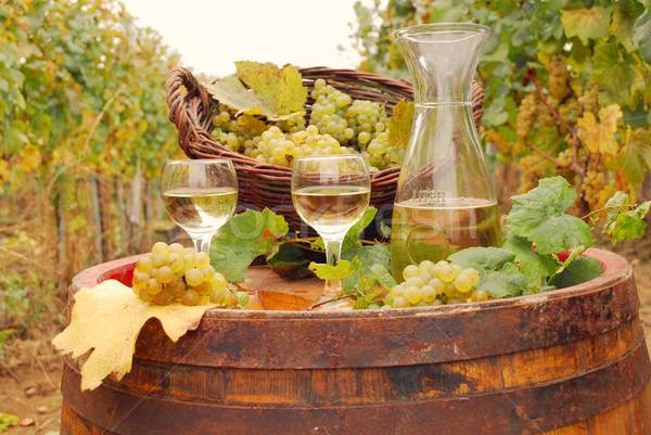 white wine and grape autumn season Stock photo © goce