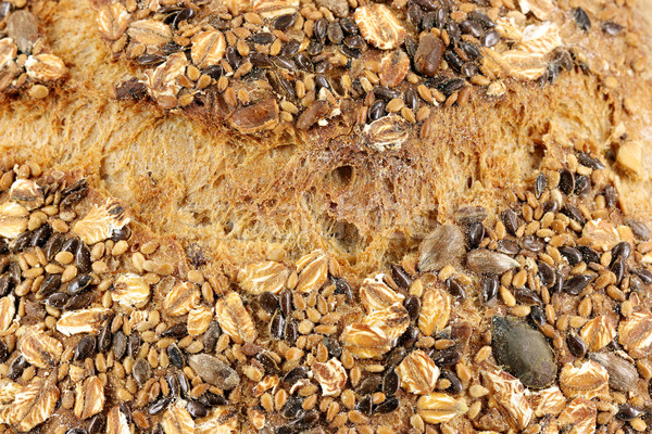 bread with seeds detail food background Stock photo © goce