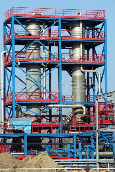 Nouvelle usine industrie pétrolières usine Photo stock © goce