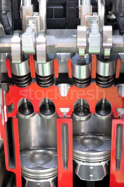 Auto motor macht machine staal versnelling Stockfoto © goce