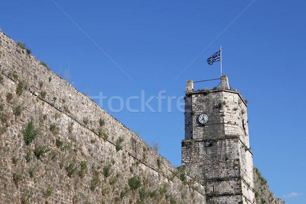 クロック 塔 ギリシャ 建物 城 ストックフォト © goce