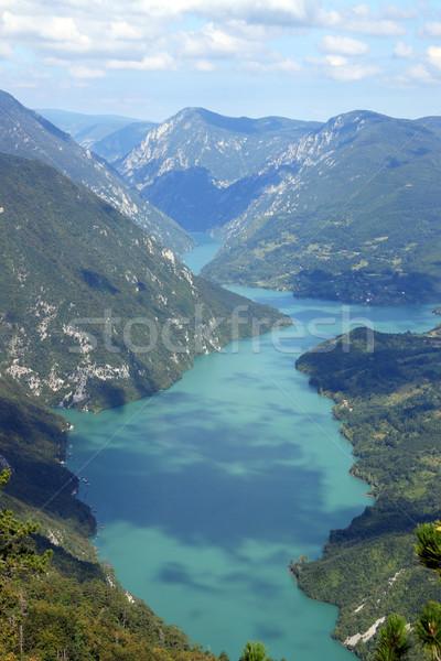 Drina river canyon viewpoint Banjska stena Tara mountain Serbia Stock photo © goce