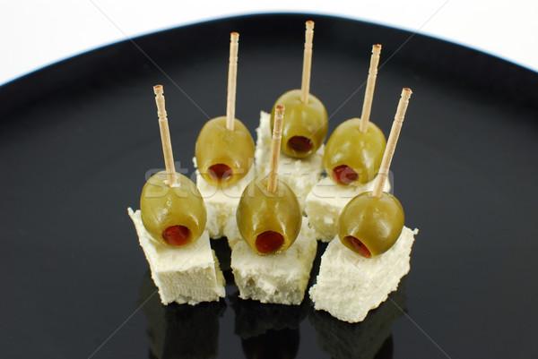 オリーブ フェタチーズ 緑 オリーブ 新鮮な 皿 ストックフォト © goce