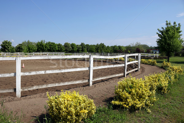 Stock photo: ranch with corral for horses
