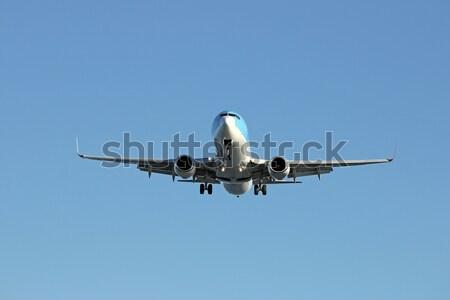 Uçak iniş havaalanı gökyüzü düzlem hızlandırmak Stok fotoğraf © goce
