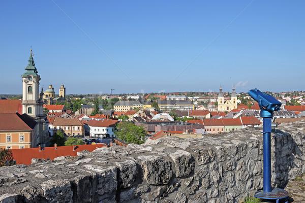 Városnézés látcső erőd Magyarország tájkép vakáció Stock fotó © goce