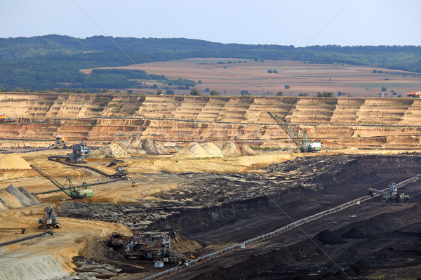 Open pit coal mine Kostolac Serbia Stock photo © goce