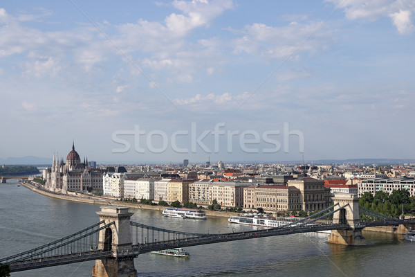 Cadeia ponte húngaro parlamento Budapeste cidade Foto stock © goce