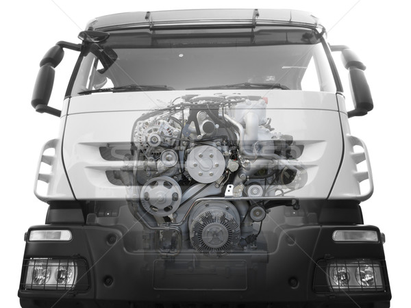 front of truck with a visible engine Stock photo © goce