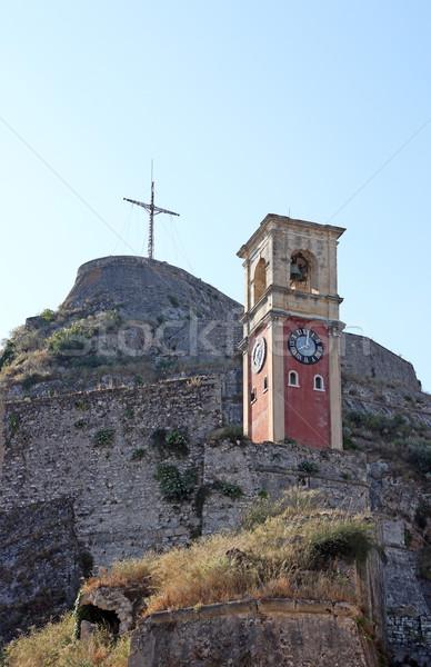 Horloge tour vieux forteresse ville mur Photo stock © goce