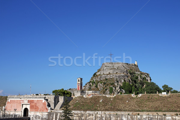 Vieux forteresse ville Grèce horloge paysage Photo stock © goce