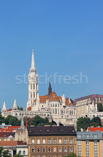Matthias church and Fisherman towers Budapest Hungary Stock photo © goce