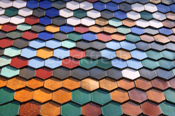 colorful Zsolnay honeycomb roof tiles Stock photo © goce