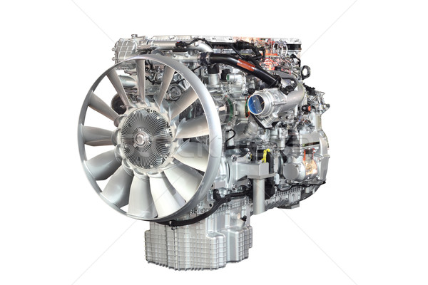heavy truck engine front view isolated Stock photo © goce