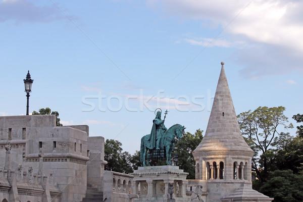 Fisherman's tower and king Matthias statue Budapest Stock photo © goce