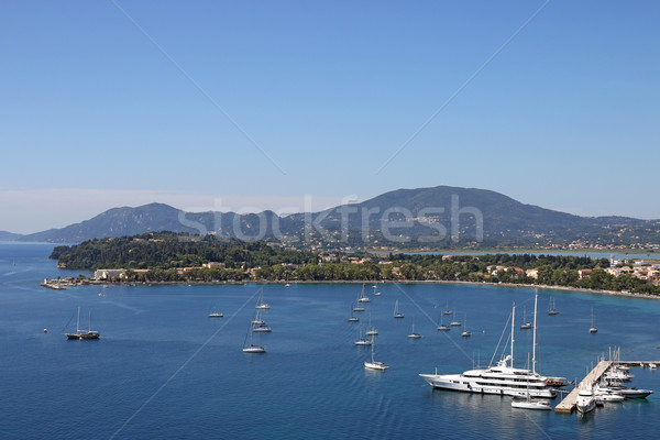 Barche a vela città Grecia acqua estate blu Foto d'archivio © goce