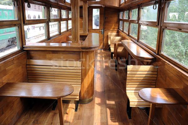 öreg vasút vagon belső klasszikus vonat Stock fotó © goce