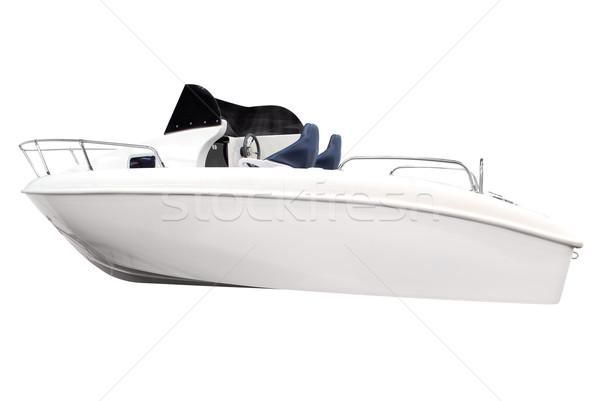 Csónak izolált fehér hajó Stock fotó © goce