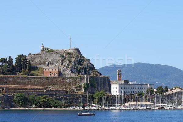 Old fortress Corfu island summer season Stock photo © goce