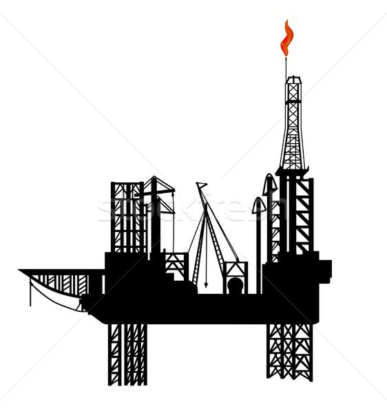 oil-drilling  platform Stock photo © goce