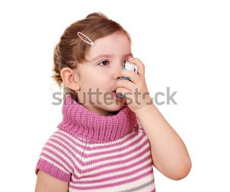 Bambina asma salute kid giovani femminile Foto d'archivio © goce
