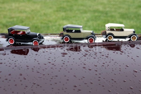 small cars on the hood of the car Stock photo © goce