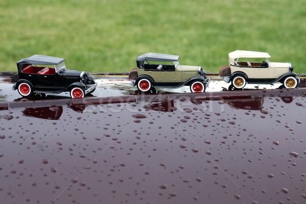 Kicsi autók autó modell utazás játék Stock fotó © goce