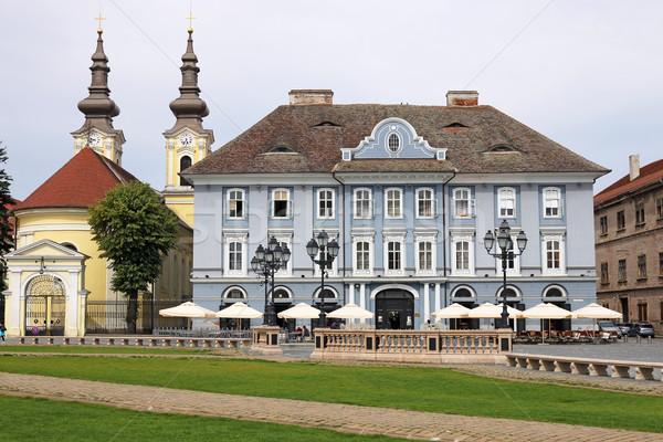 Церкви Союза квадратный Румыния здании Сток-фото © goce