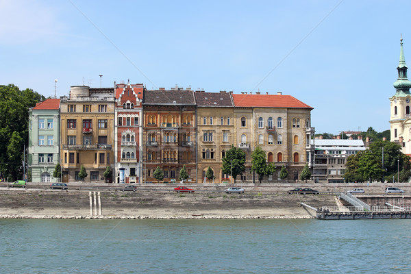 old buildings on Danube riverside Budapest Stock photo © goce